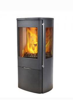 Jydepejsen Senza Steel 5kw + Side Glass Defra Wood Burning Stove